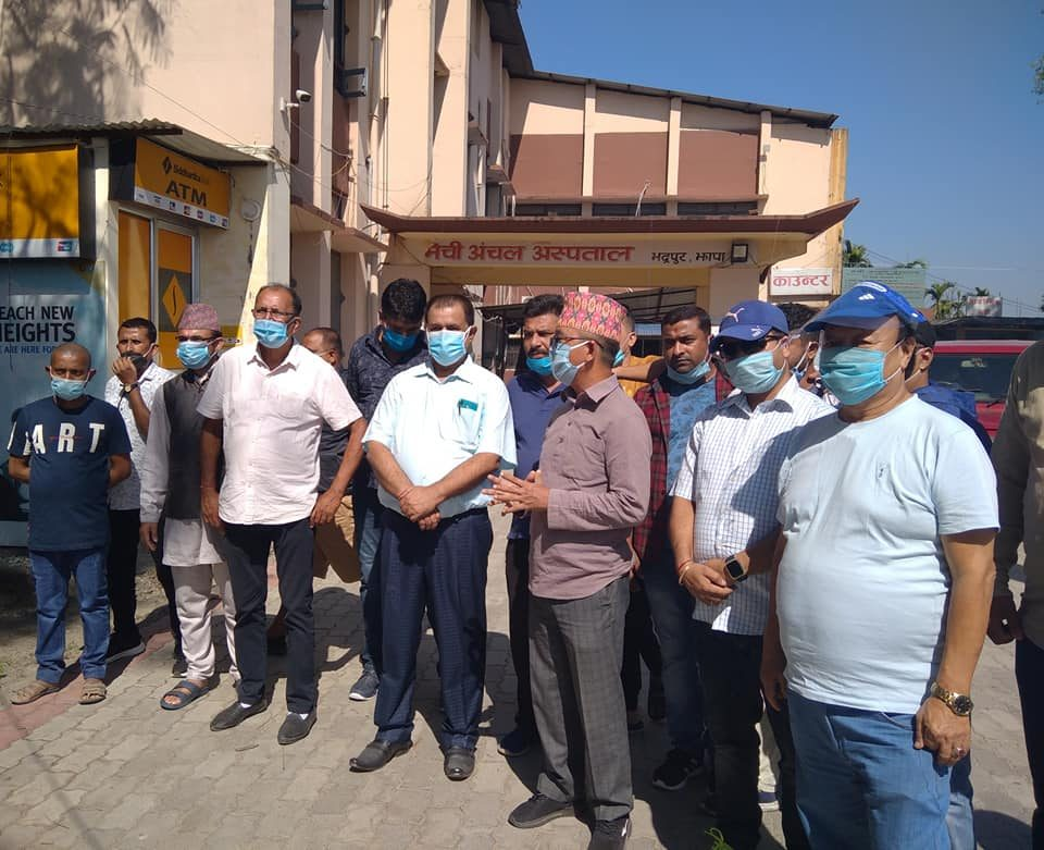 MP Lingden monitored hospitals of Jhapa after complain regarding treatments