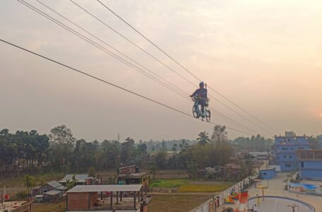 Promoting Tourism : Bicycle in sky of Jhiljhile