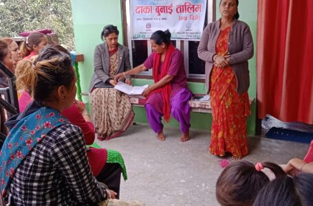 शिवसताक्षीमा ४५ दिने ढाका बुनाई तालिम सुरु