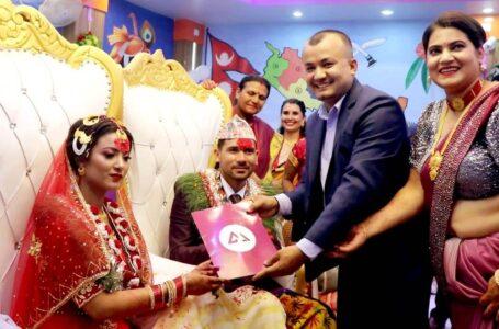 '१० लाख रुपैयाँको जीवनबीमा पोलिसी बेहुलीलाई उपहार'
