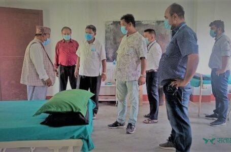 शिवसताक्षीको कोभीड अस्पताल सोमबारदेखि संचालनमा आउने, लुथरनले दियो स्वास्थ्य सामग्री