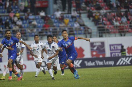 दोस्रो मैत्रीपूर्ण खेलमा भारतसँग नेपाल २–१ ले पराजित